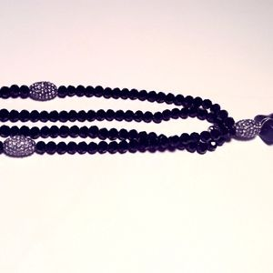 Jewelry - Black crystal long necklace